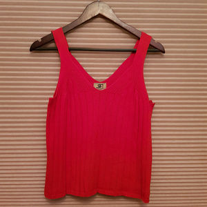 VINTAGE Red Knit Sweater Tank